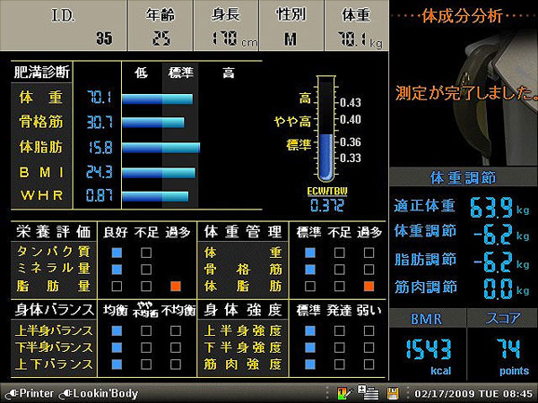 InBody720 LCD