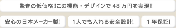 驚きの低価格!この機能・デザインで48万円を実現!